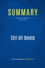 Summary: Ctrl Alt Delete : Review and Analysis of Joel's Book - eBook