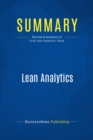 Summary: Lean Analytics : Review and Analysis of Croll and Yoskovitz' Book - eBook