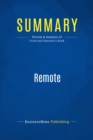Summary: Remote : Review and Analysis of Fried and Hansson's Book - eBook