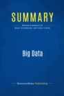 Summary: Big Data : Review and Analysis of Mayer-Schonberger and Cukier's Book - eBook