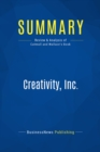 Summary: Creativity, Inc. : Review and Analysis of Catmull and Wallace's Book - eBook