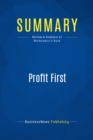 Summary: Profit First : Review and Analysis of Michalowicz's Book - eBook
