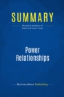 Summary: Power Relationships : Review and Analysis of Sobel and Panas' Book - eBook