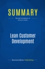 Summary: Lean Customer Development : Review and Analysis of Alvarez's Book - eBook