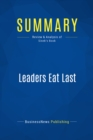 Summary: Leaders Eat Last : Review and Analysis of Sinek's Book - eBook