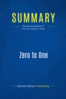 Summary: Zero to One : Review and Analysis of Thiel and Masters' Book - eBook