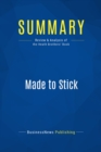 Summary: Made to Stick : Review and Analysis of the Heath Brothers' Book - eBook