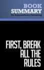 Summary: First, Break All the Rules : Review and Analysis of Buckingham and Coffman's Book - eBook