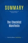 Summary: The Checklist Manifesto : Review and Analysis of Gawande's Book - eBook