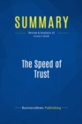 Summary: The Speed of Trust : Review and Analysis of Covey's Book - eBook
