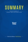 Summary: Yes! : Review and Analysis of Goldstein, Martin and Cialdini's Book - eBook