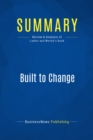 Summary: Built to Change : Review and Analysis of Lawler and Worley's Book - eBook