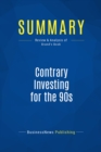 Summary: Contrary Investing for the 90s : Review and Analysis of Brand's Book - eBook