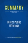 Summary: Direct Public Offerings : Review and Analysis of Field's Book - eBook