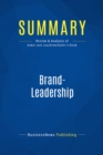 Summary: Brand-Leadership : Review and Analysis of Aaker and Joachimsthaler's Book - eBook