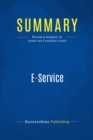 Summary: E-Service : Review and Analysis of Zemke and Connellan's Book - eBook