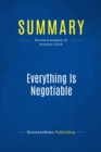 Summary: Everything Is Negotiable : Review and Analysis of Kennedy's Book - eBook