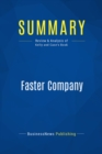 Summary: Faster Company : Review and Analysis of Kelly and Case's Book - eBook