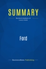Summary: Ford : Review and Analysis of Lacey's Book - eBook