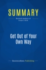 Summary: Get Out of Your Own Way : Review and Analysis of Cooper's Book - eBook