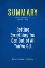 Summary: Getting Everything You Can Out of All You've Got : Review and Analysis of Abraham's Book - eBook