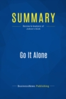 Summary: Go It Alone : Review and Analysis of Judson's Book - eBook