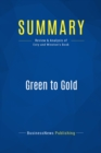 Summary: Green to Gold : Review and Analysis of Esty and Winston's Book - eBook