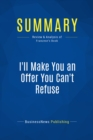 Summary: I'll Make You an Offer You Can't Refuse : Review and Analysis of Franzese's Book - eBook