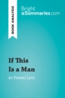 If This Is a Man by Primo Levi (Book Analysis) - eBook