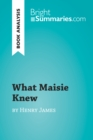 What Maisie Knew by Henry James (Book Analysis) : Detailed Summary, Analysis and Reading Guide - eBook