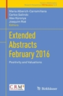 Extended Abstracts February 2016 : Positivity and Valuations - eBook