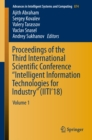 "Proceedings of the Third International Scientific Conference ""Intelligent Information Technologies for Industry"" (IITI'18) : Volume 1 - eBook"