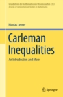 Carleman Inequalities : An Introduction and More - eBook