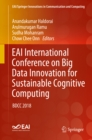 EAI International Conference on Big Data Innovation for Sustainable Cognitive Computing : BDCC 2018 - eBook