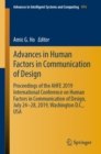 Advances in Human Factors in Communication of Design : Proceedings of the AHFE 2019 International Conference on Human Factors in Communication of Design, July 24-28, 2019, Washington D.C., USA - Book