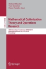 Mathematical Optimization Theory and Operations Research : 18th International Conference, MOTOR 2019, Ekaterinburg, Russia, July 8-12, 2019, Proceedings - Book