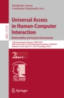Universal Access in Human-Computer Interaction. Multimodality and Assistive Environments : 13th International Conference, UAHCI 2019, Held as Part of the 21st HCI International Conference, HCII 2019, - eBook