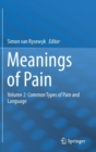 Meanings of Pain : Volume 2: Common Types of Pain and Language - Book