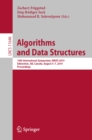 Algorithms and Data Structures : 16th International Symposium, WADS 2019, Edmonton, AB, Canada, August 5-7, 2019, Proceedings - eBook