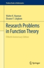 Research Problems in Function Theory : Fiftieth Anniversary Edition - eBook