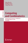 Computing and Combinatorics : 25th International Conference, COCOON 2019, Xi'an, China, July 29-31, 2019, Proceedings - eBook