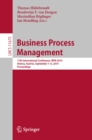 Business Process Management : 17th International Conference, BPM 2019, Vienna, Austria, September 1-6, 2019, Proceedings - eBook
