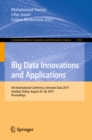 Big Data Innovations and Applications : 5th International Conference, Innovate-Data 2019, Istanbul, Turkey, August 26-28, 2019, Proceedings - eBook