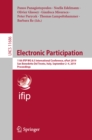Electronic Participation : 11th IFIP WG 8.5 International Conference, ePart 2019, San Benedetto Del Tronto, Italy, September 2-4, 2019, Proceedings - eBook