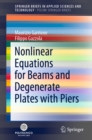 Nonlinear Equations for Beams and Degenerate Plates with Piers - eBook