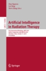 Artificial Intelligence in Radiation Therapy : First International Workshop, AIRT 2019, Held in Conjunction with MICCAI 2019, Shenzhen, China, October 17, 2019, Proceedings - eBook