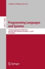 Programming Languages and Systems : 17th Asian Symposium, APLAS 2019, Nusa Dua, Bali, Indonesia, December 1-4, 2019, Proceedings - eBook