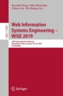 Web Information Systems Engineering - WISE 2019 : 20th International Conference, Hong Kong, China, November 26-30, 2019, Proceedings - eBook