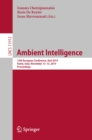 Ambient Intelligence : 15th European Conference, AmI 2019, Rome, Italy, November 13-15, 2019, Proceedings - eBook