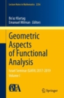 Geometric Aspects of Functional Analysis : Israel Seminar (GAFA) 2017-2019 Volume I - eBook